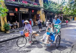 Hoi An cycle taxis are a great way to get about if the heat is too much for you