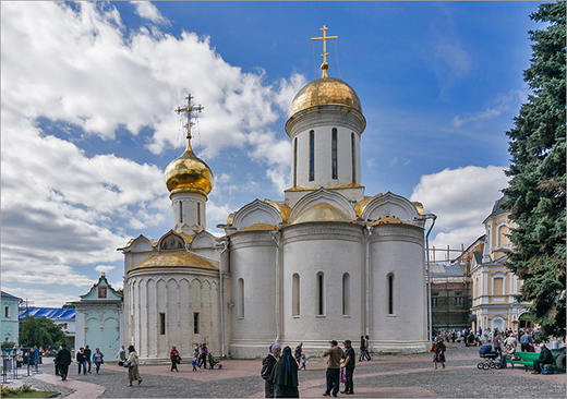 The Trinity Cathedral in Sergiev Posad