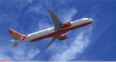 Air India Airbus A321 in flight.