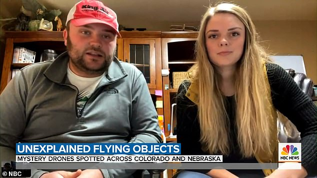 Wyatt Harman, who chased the drones when they flew over his Washington County, Colorado, property, told NBC