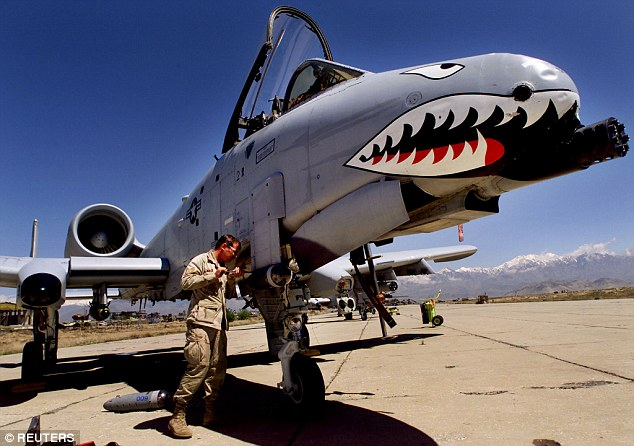The first A-10s Warthog (pictured) hit the sky in 1972 and entered the front lines five years later – a decade later manufacturing of the planes came to a halt.  Light attack planes could replace the A-10s in big missions – as these planes cost over $10,000 per flight hour.