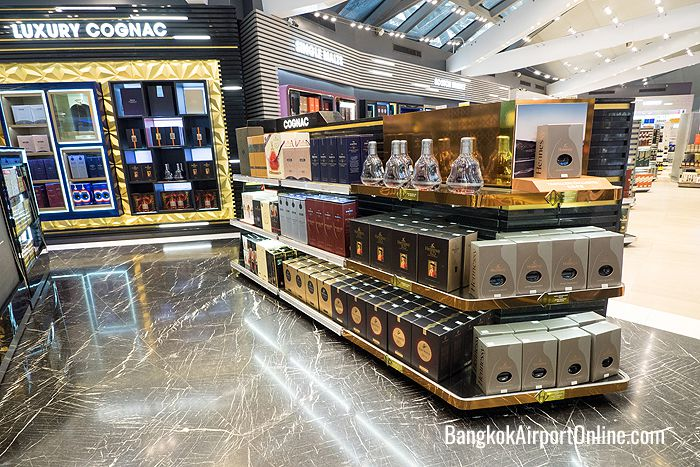 Liquor and wine at Bangkok Airport Duty Free