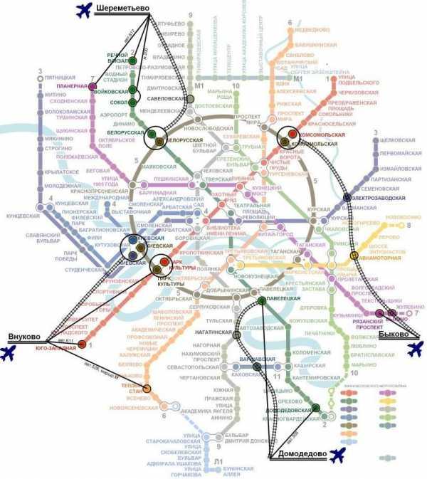 Карта москвы с аэропортами метро и вокзалами pdf